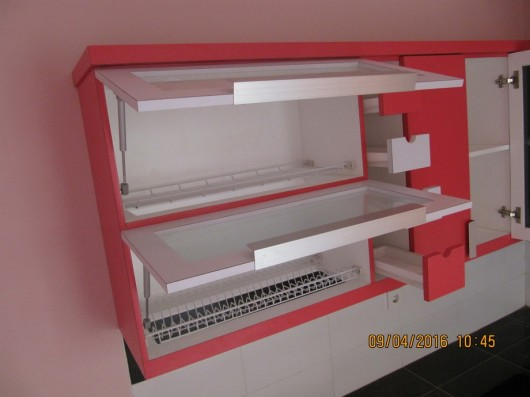 kitchen set minimalis warna pink (3)